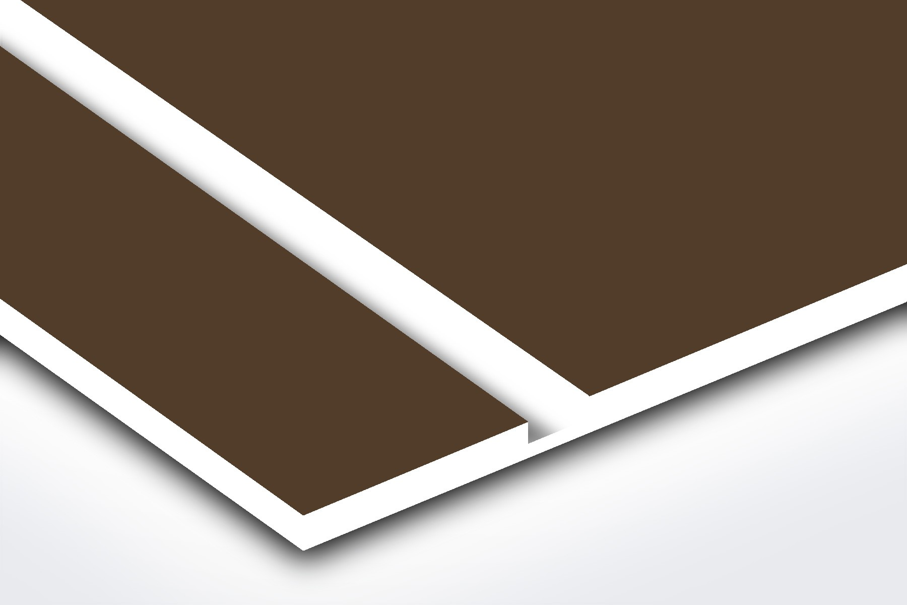 Medium Brown/White 1/16""