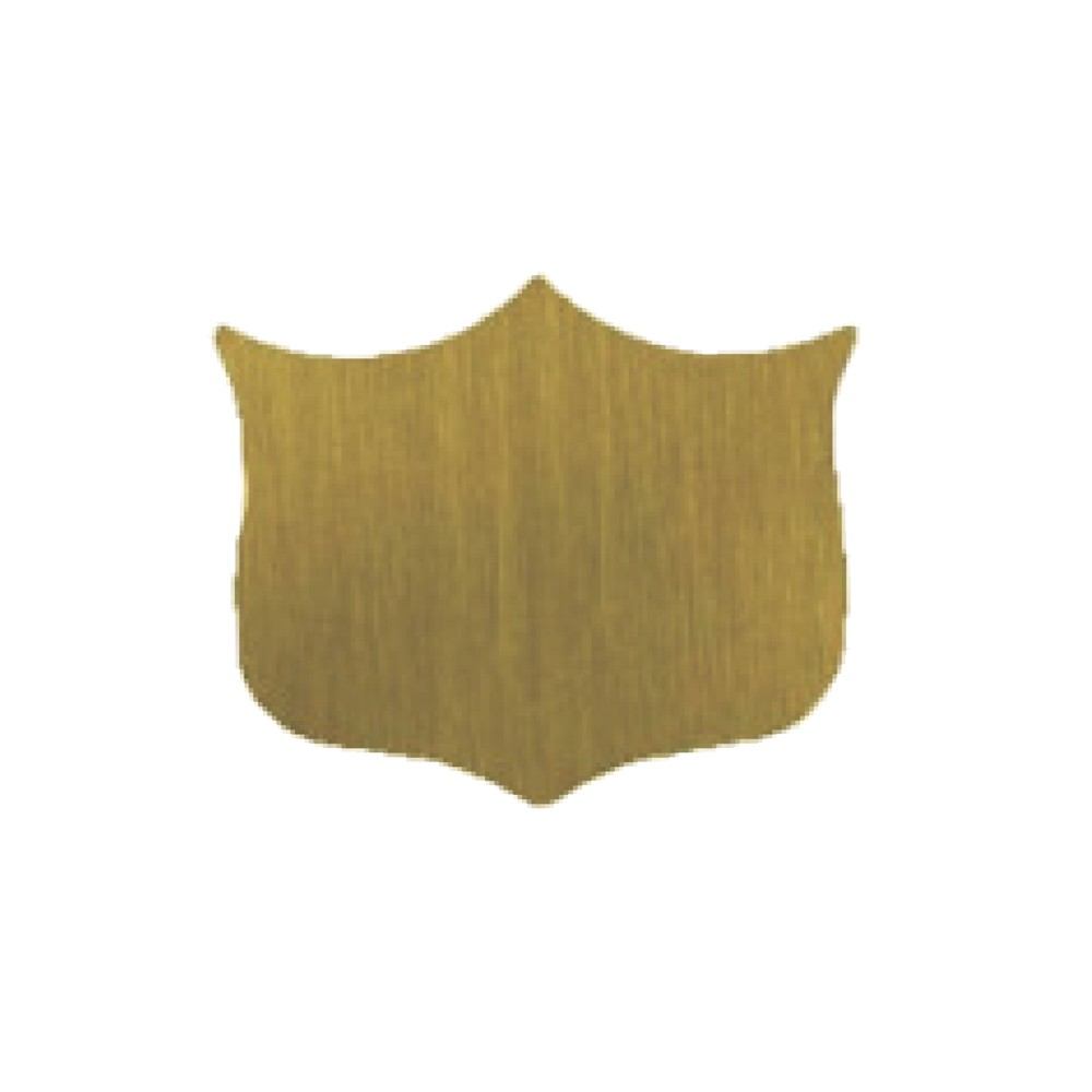 Shield Satin Gold (B1) 1-1/2 x 1-1/4