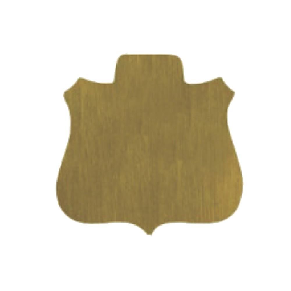 "Shield Gold Aluminum B04ABG 1.5"" x 1.5"""