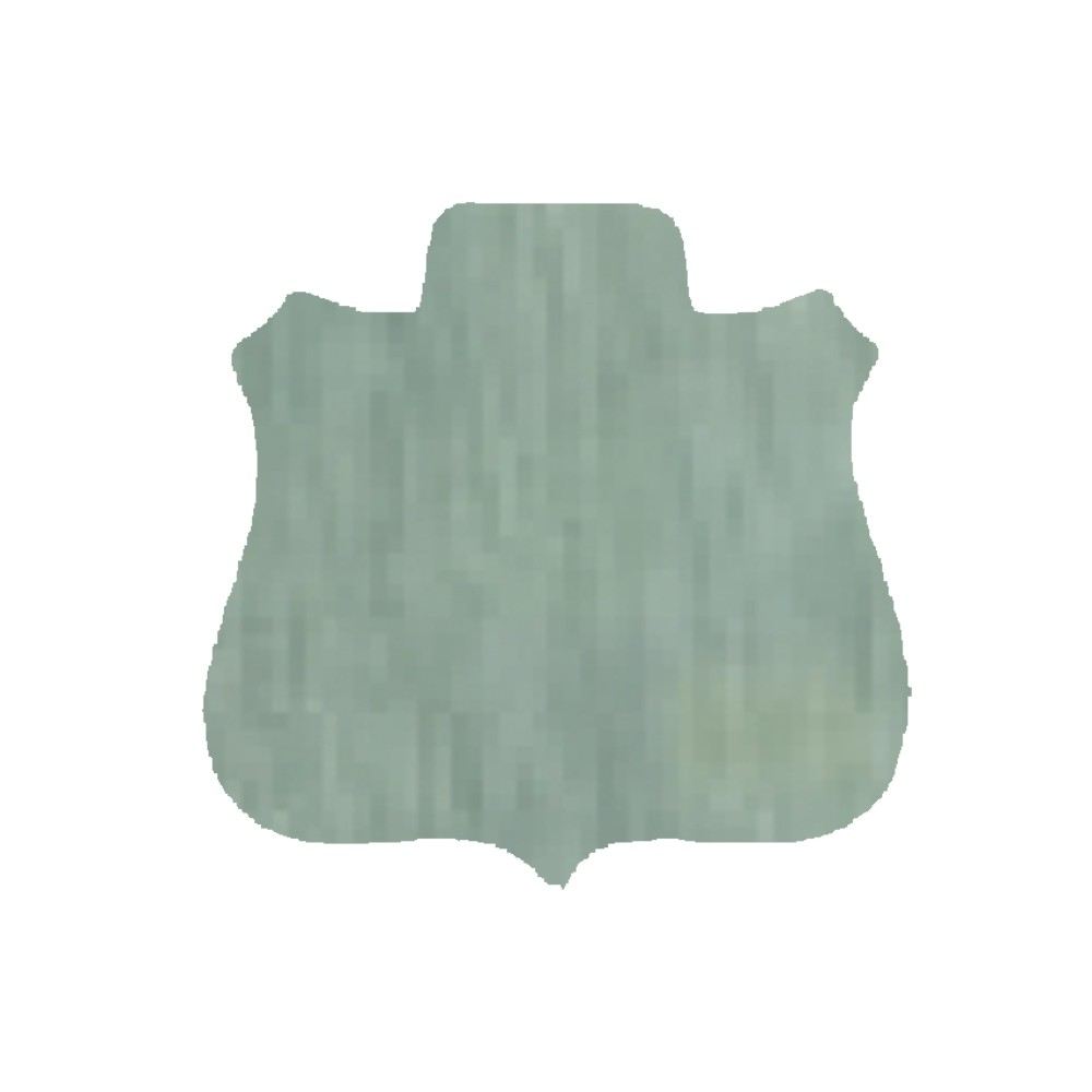 "Shield Silver Aluminumw (B4) 1.5"" x 1.5"""