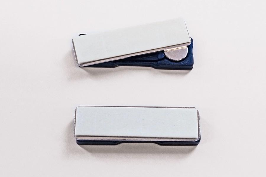 Badge Pin Magnet black 44x13mm