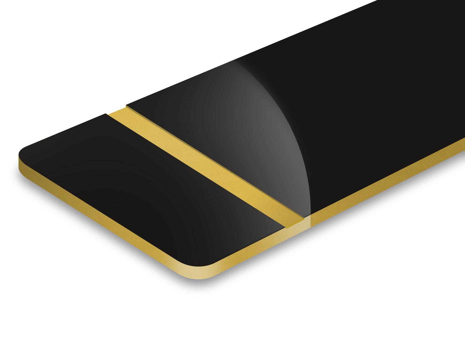 Nero/Oro 1,6mm