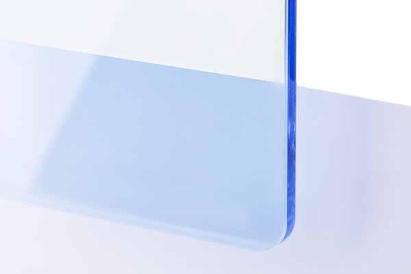 TroGlass Color Gloss Blu Ghiaccio Trasparente 3mm