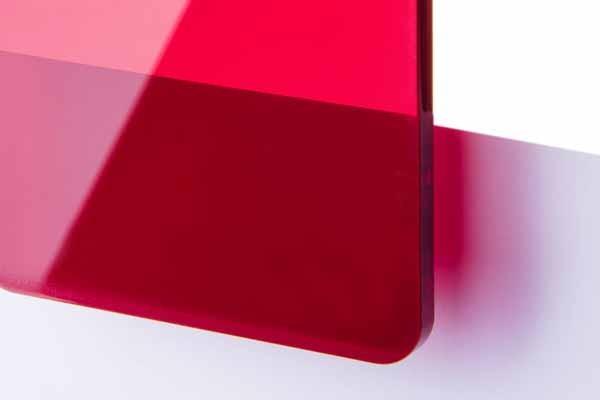 TroGlass Color Gloss Transp. rood, 3mm