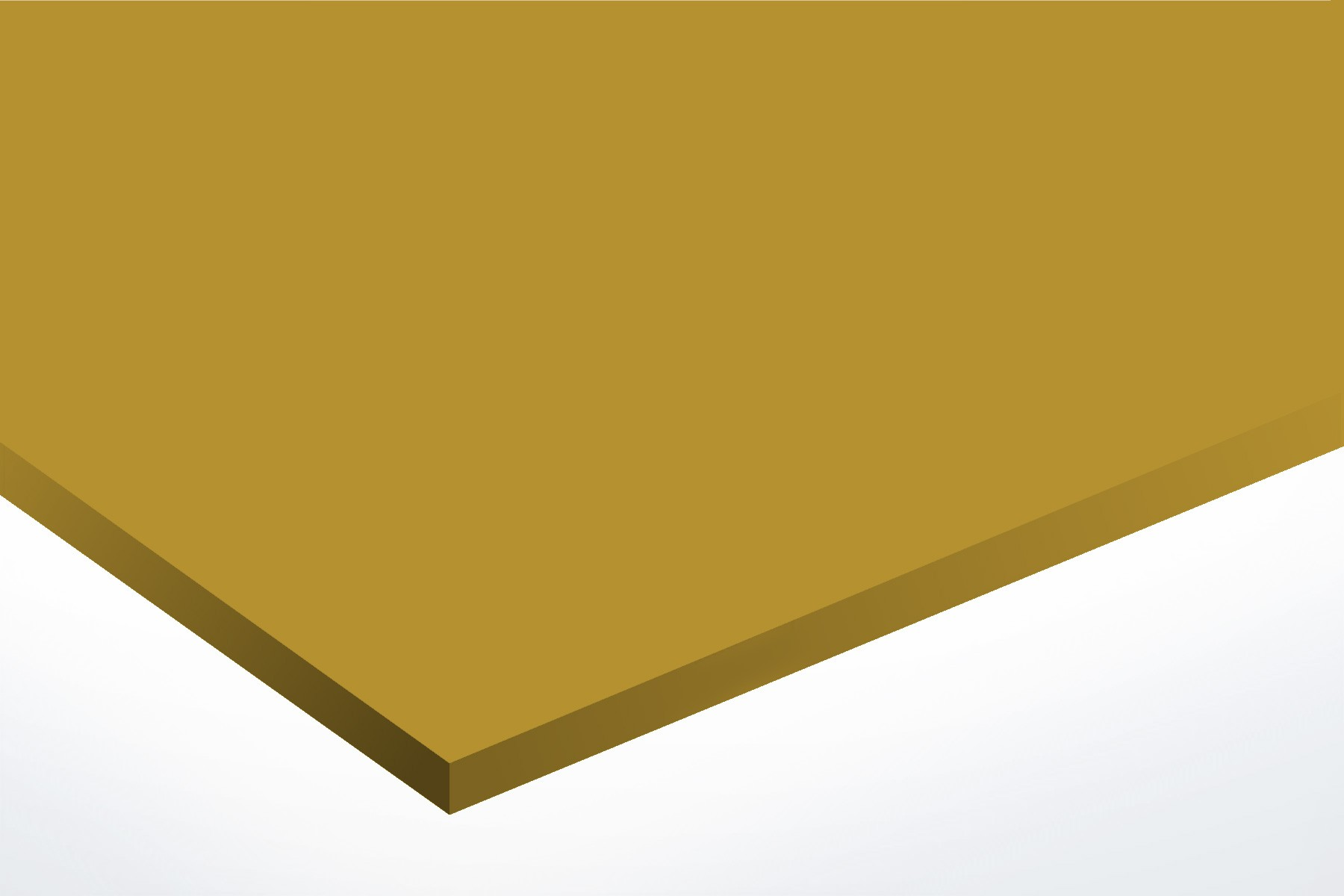 Anodised Aluminium Gold, Matte, 2mm x 1000mm x 500mm