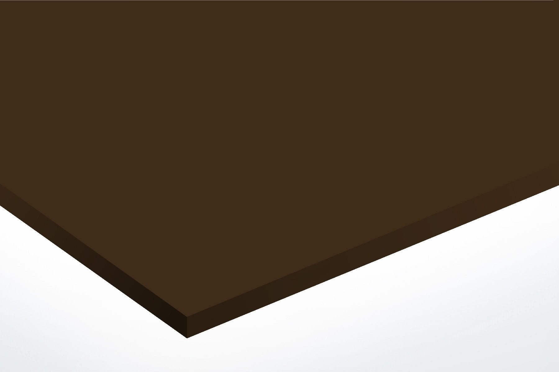Anodised Aluminium Dark Bronze,  Matte, 3mm x 1000mm x 500mm