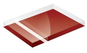 Mirror Finish Deep Red 1200x600x3mm