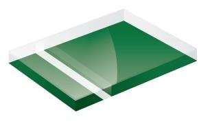 Mirror Green 1200x600x3mm
