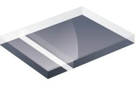 Mirror Finish Grey 1200x600x3mm