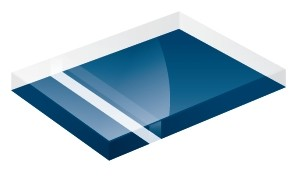 Mirror Finish Royal Blue 1200x600x3mm