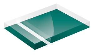 Mirror Finish Teal 1200x600x3mm