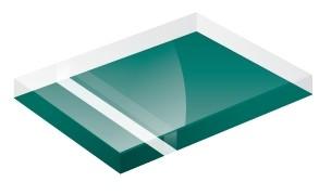 Mirror Finish Teal 1200x600x3mm