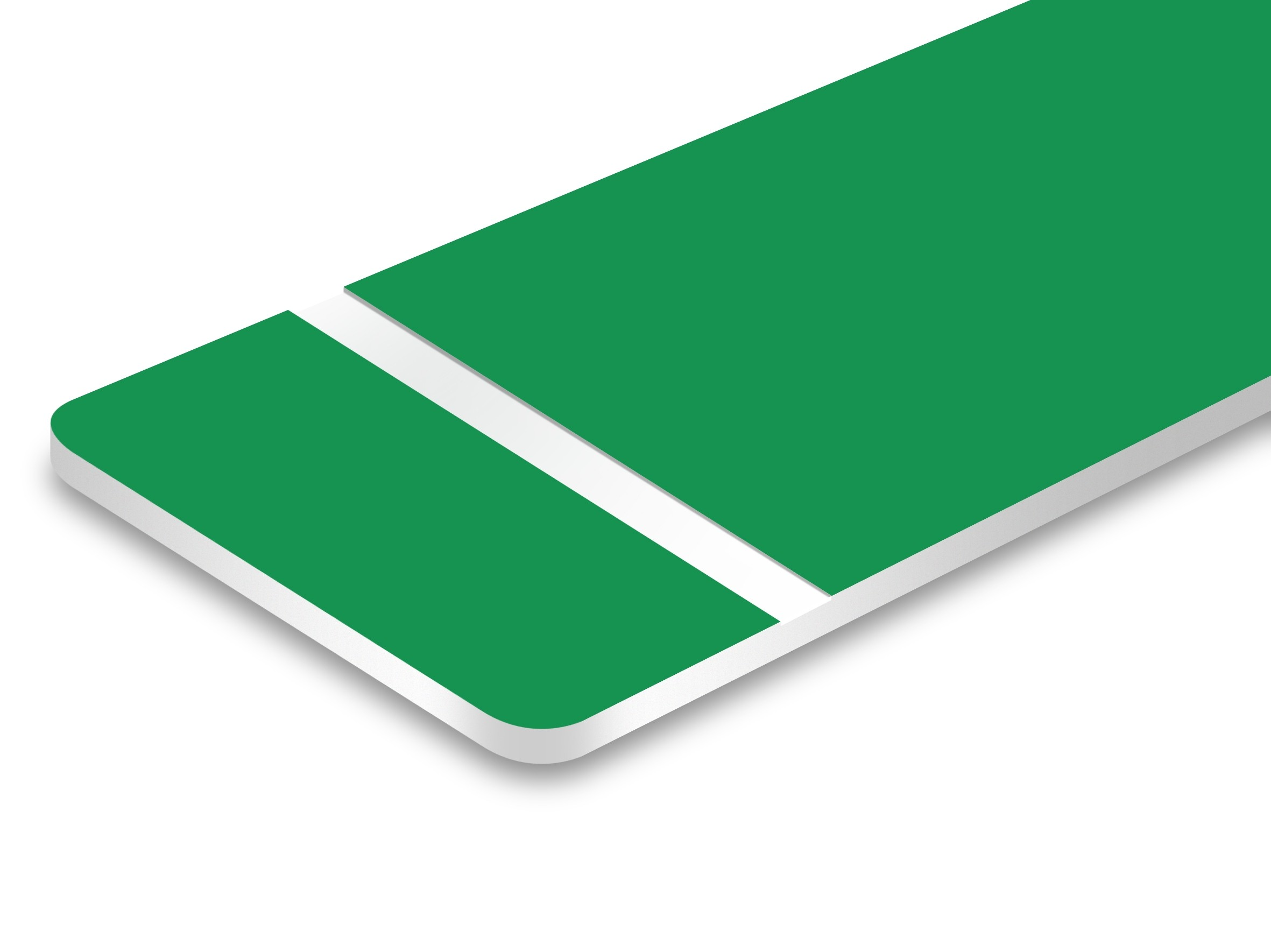 TroLase Ultra Matte Green/White 1.5mm