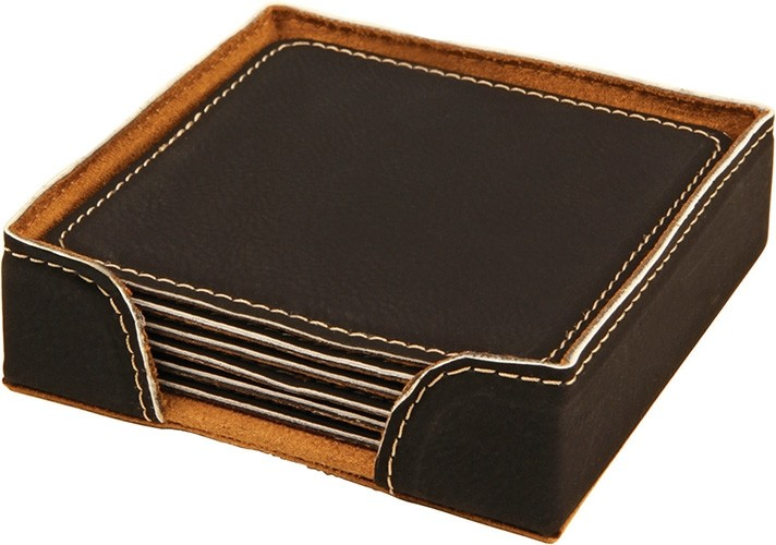 Square Coaster Set Black
