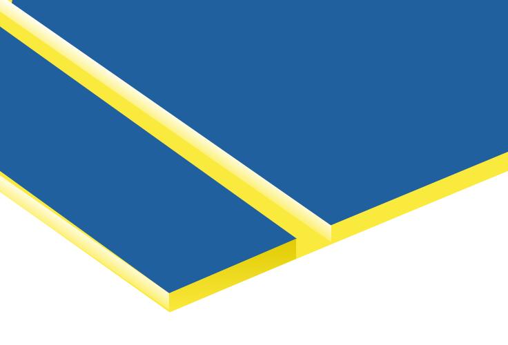 TroLase, Sky Blue/Yellow, 2ply, 1.6 mm