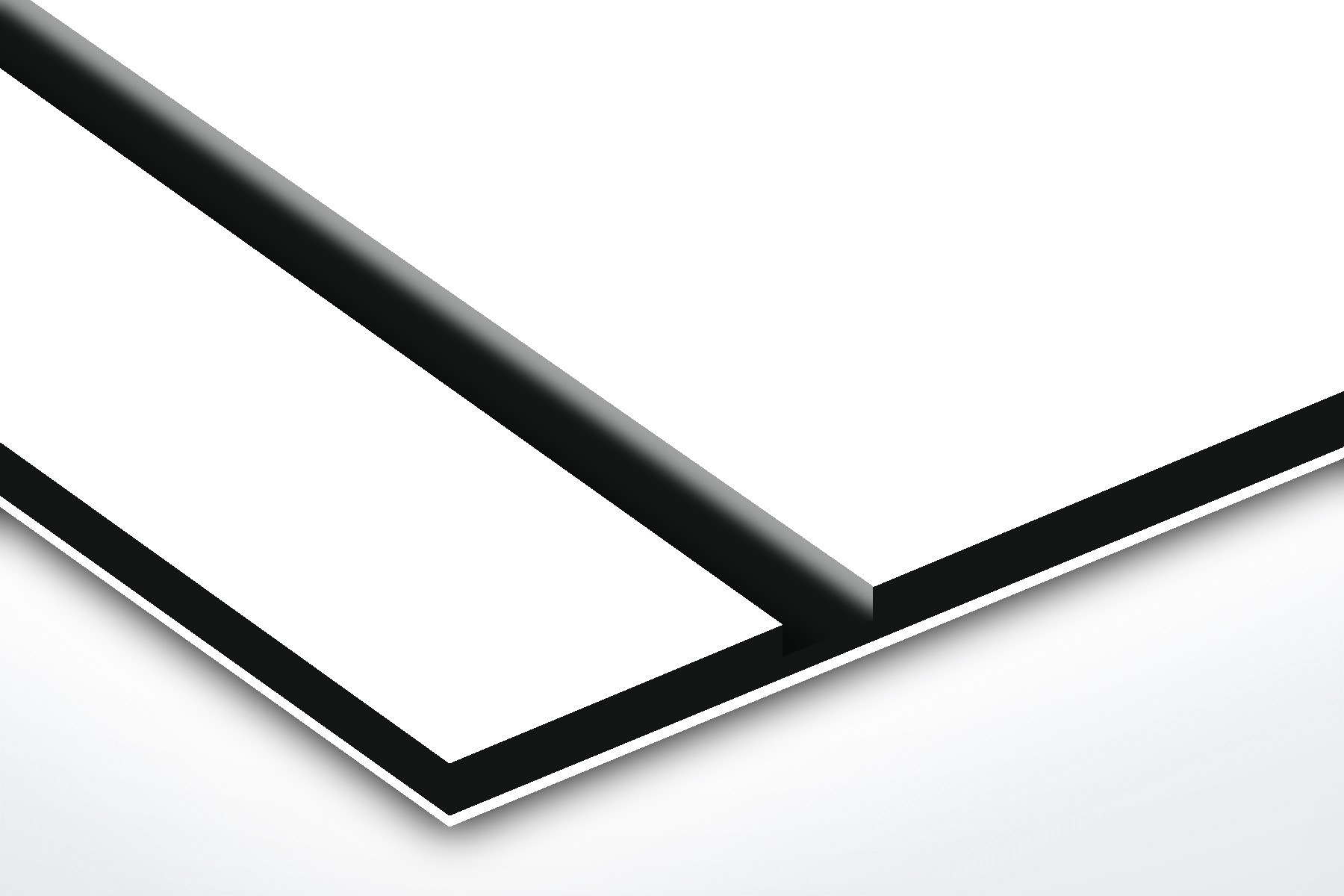 TroPly HiGloss, White/Black, 2ply, 3.2 mm