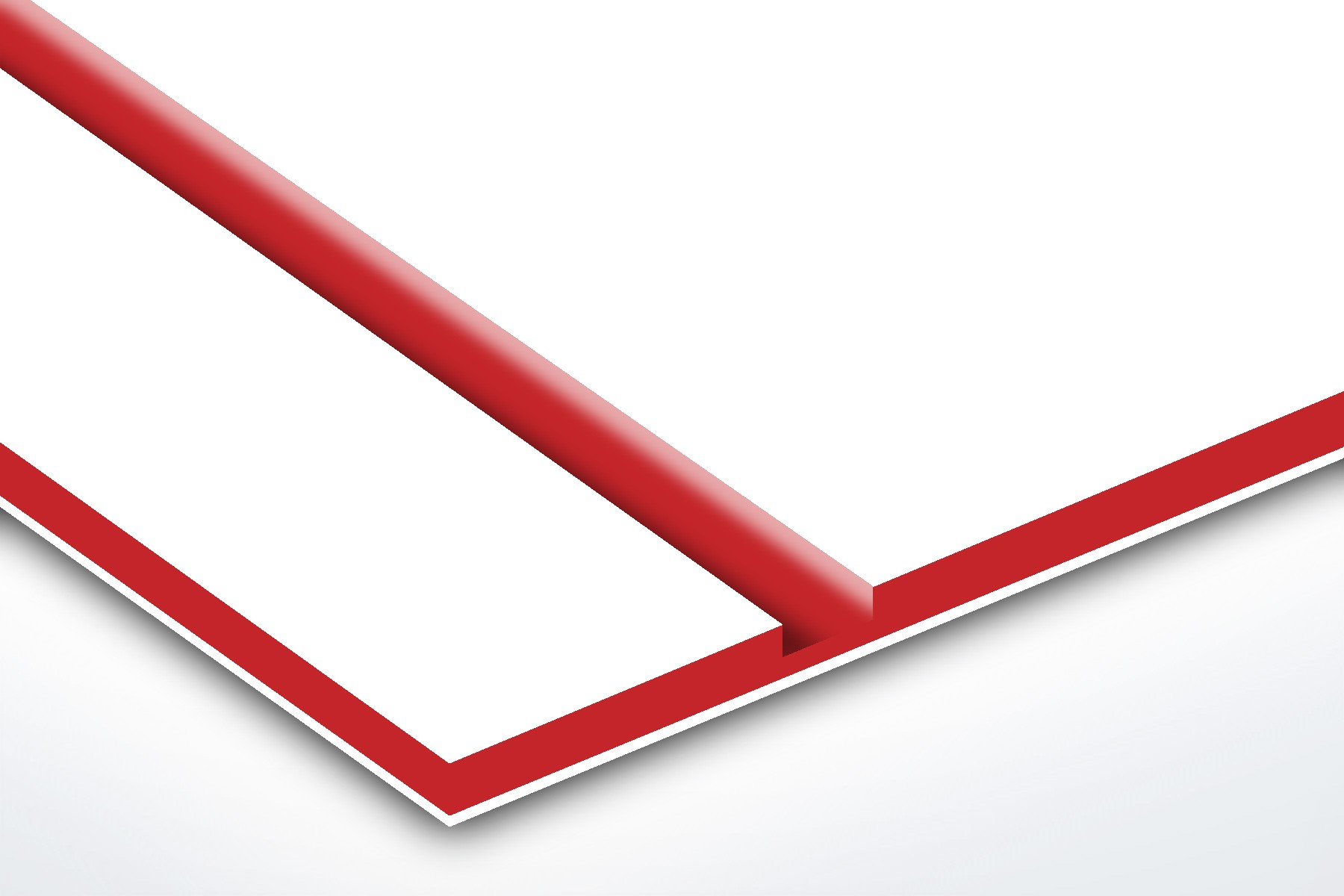 TroPly HiGloss, White/Red, 2ply, 3.2 mm