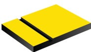 TroPly Ultra, Safety Yellow/Black, 2ply, 3.2 mm
