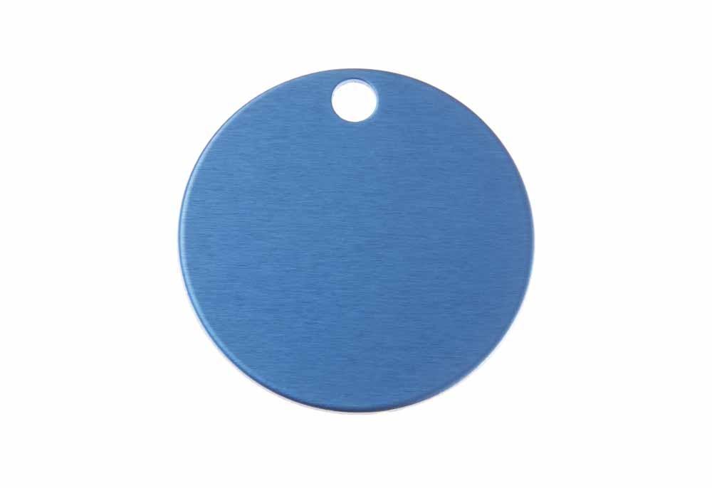 Okrągła aluminium anodowane niebieska 32mm 20 szt.
