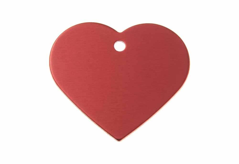 Serce aluminium anodowane czerwone 38x32mm