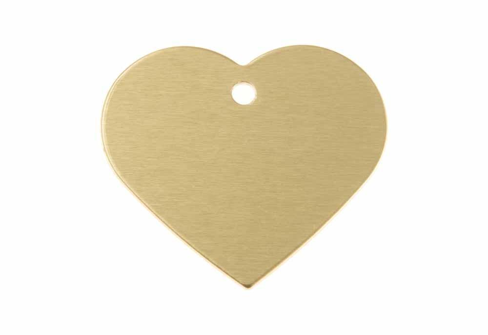 Serce aluminium anodowane złote 38x32mm