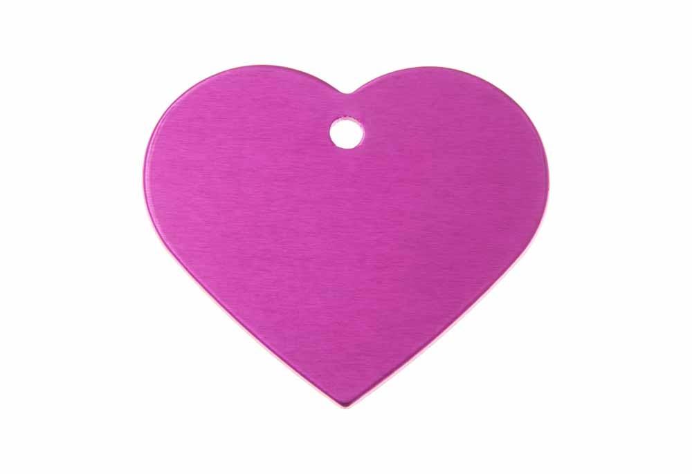 Serce aluminium anodowane różowe 38x32mm