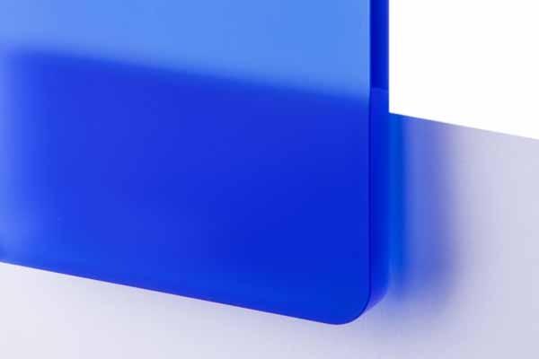 TroGlass Satins Niebieski Półprzezroczysty