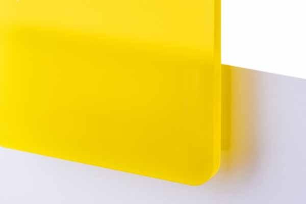 TroGlass Satins Żółty Półprzezroczysty