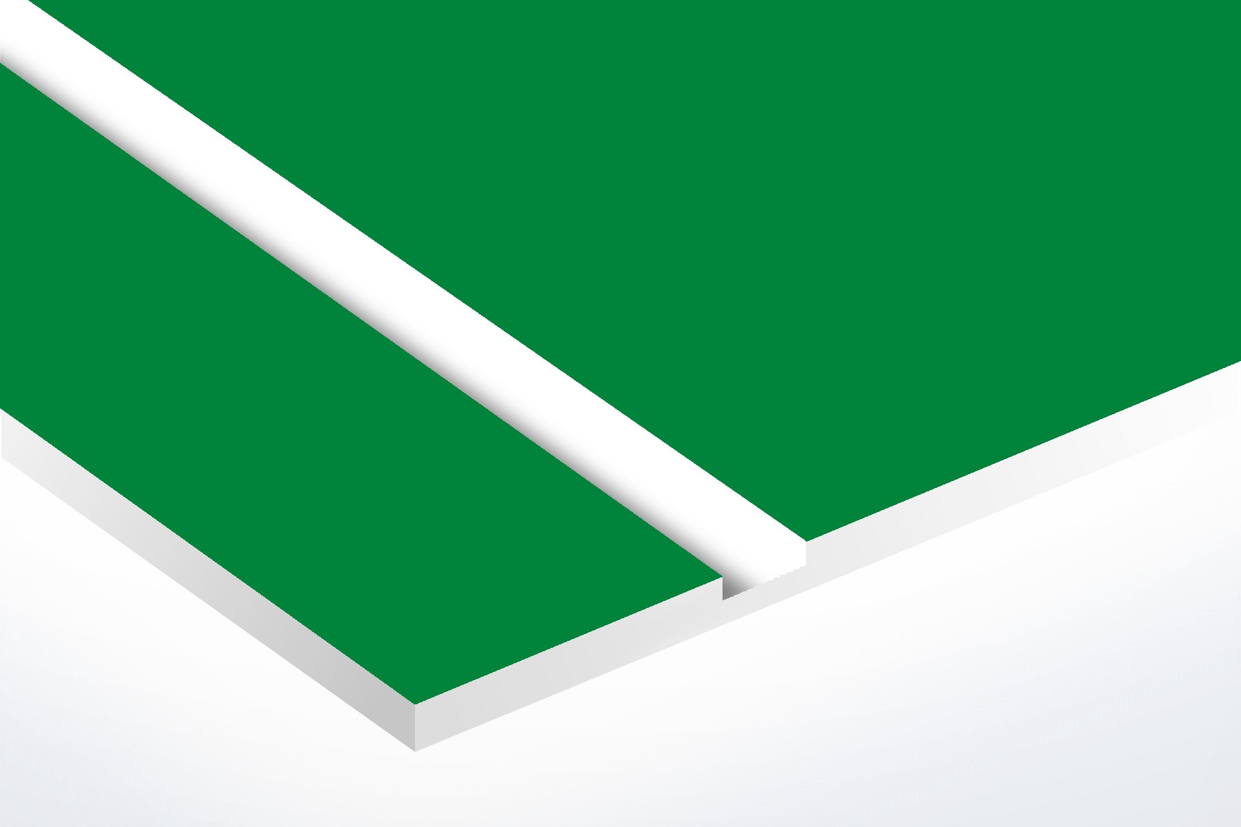 "LUM912-206 Pine Green/White Matte 1/16"""
