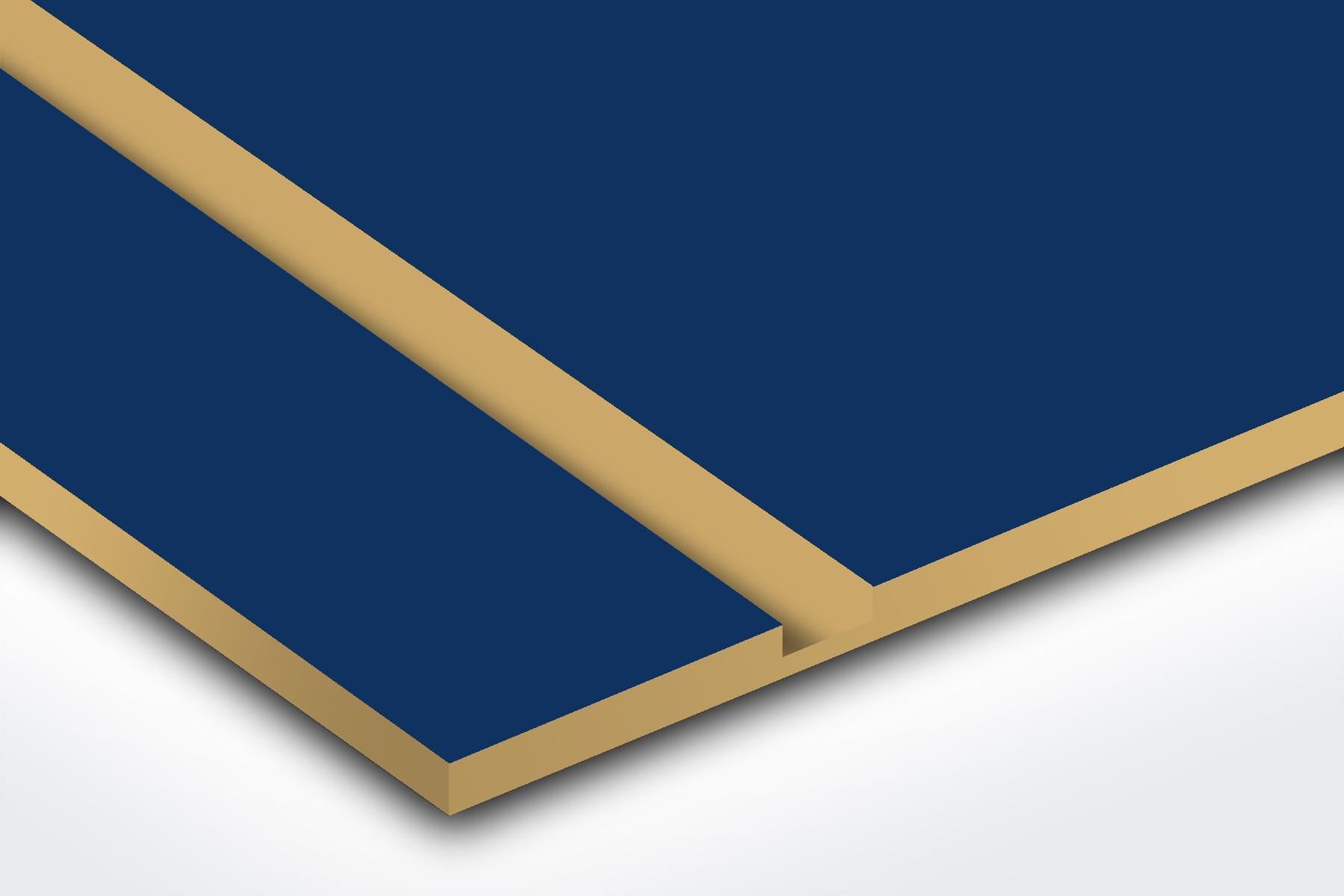 L557-206 Navy Blue/Gold 1/16""