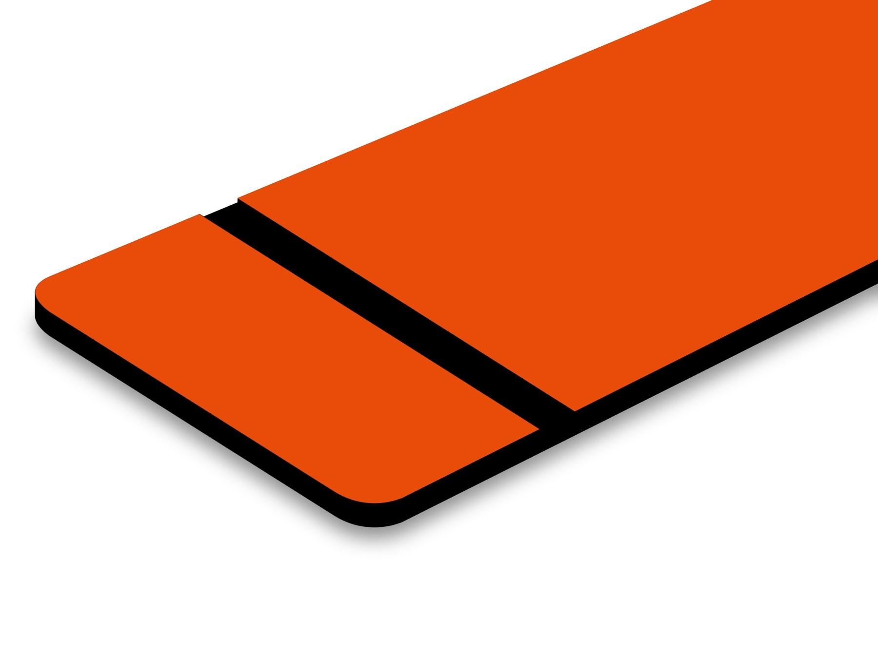 "L614-206 Orange/Black 1/16"""