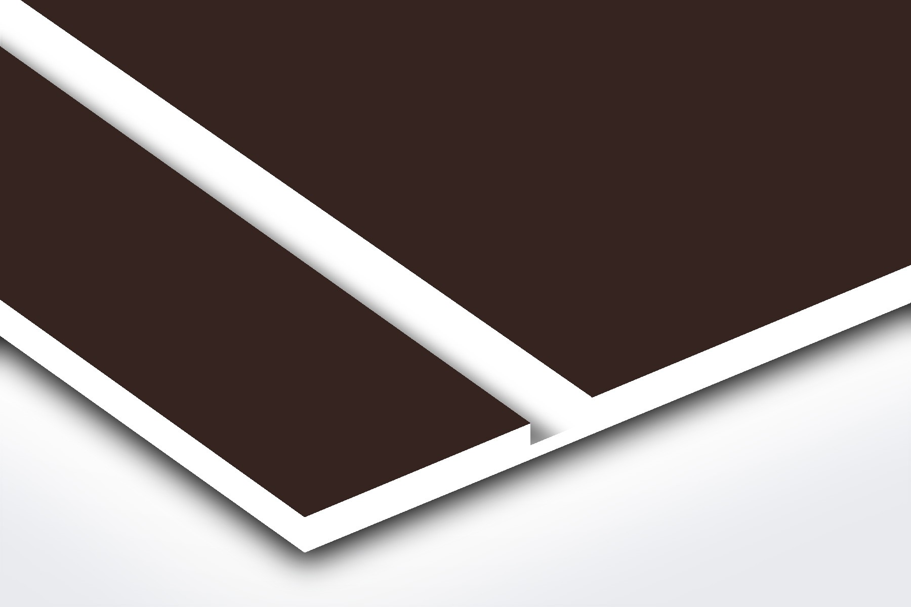 PS842-206 Dark Brown/White 1/16""