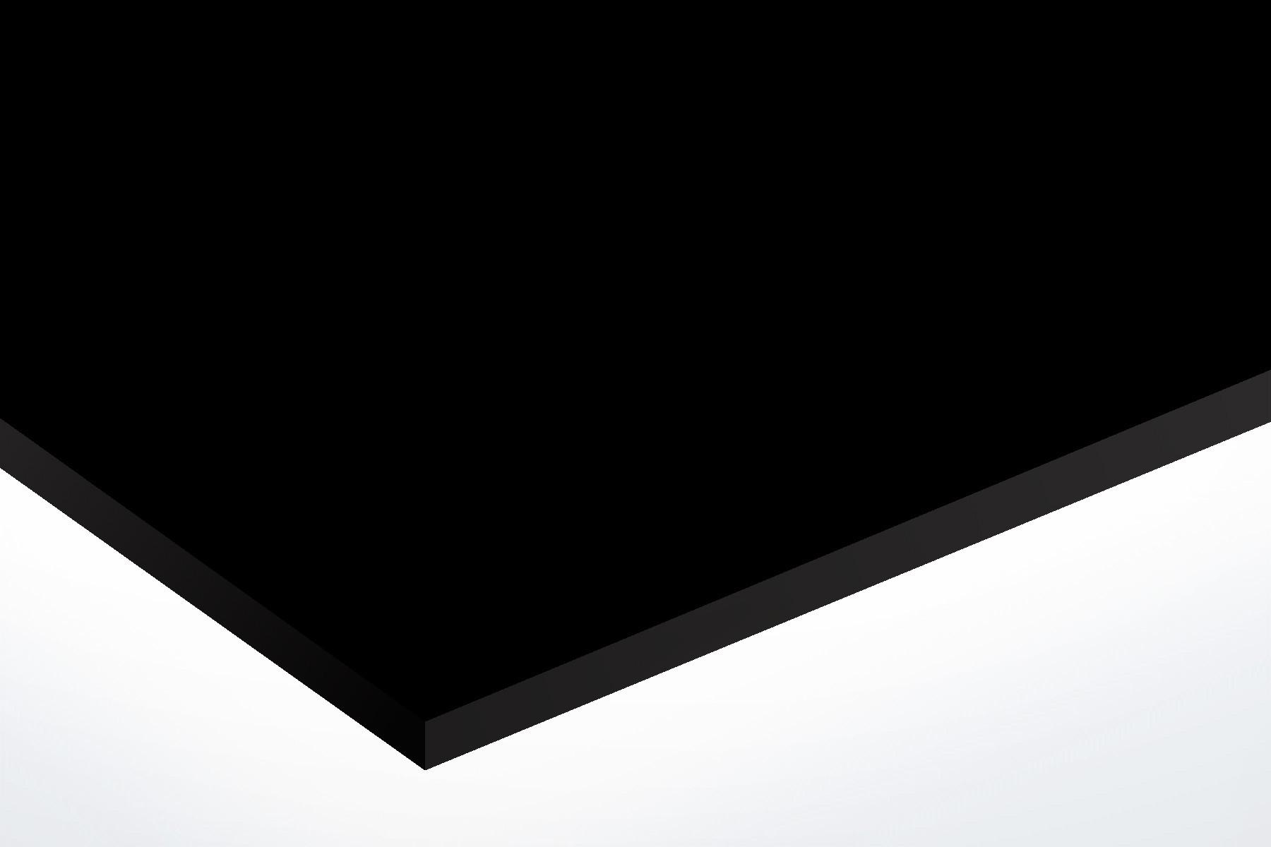 Anodised Aluminium Black, Matt, 1mm x 1000mm x 500mm