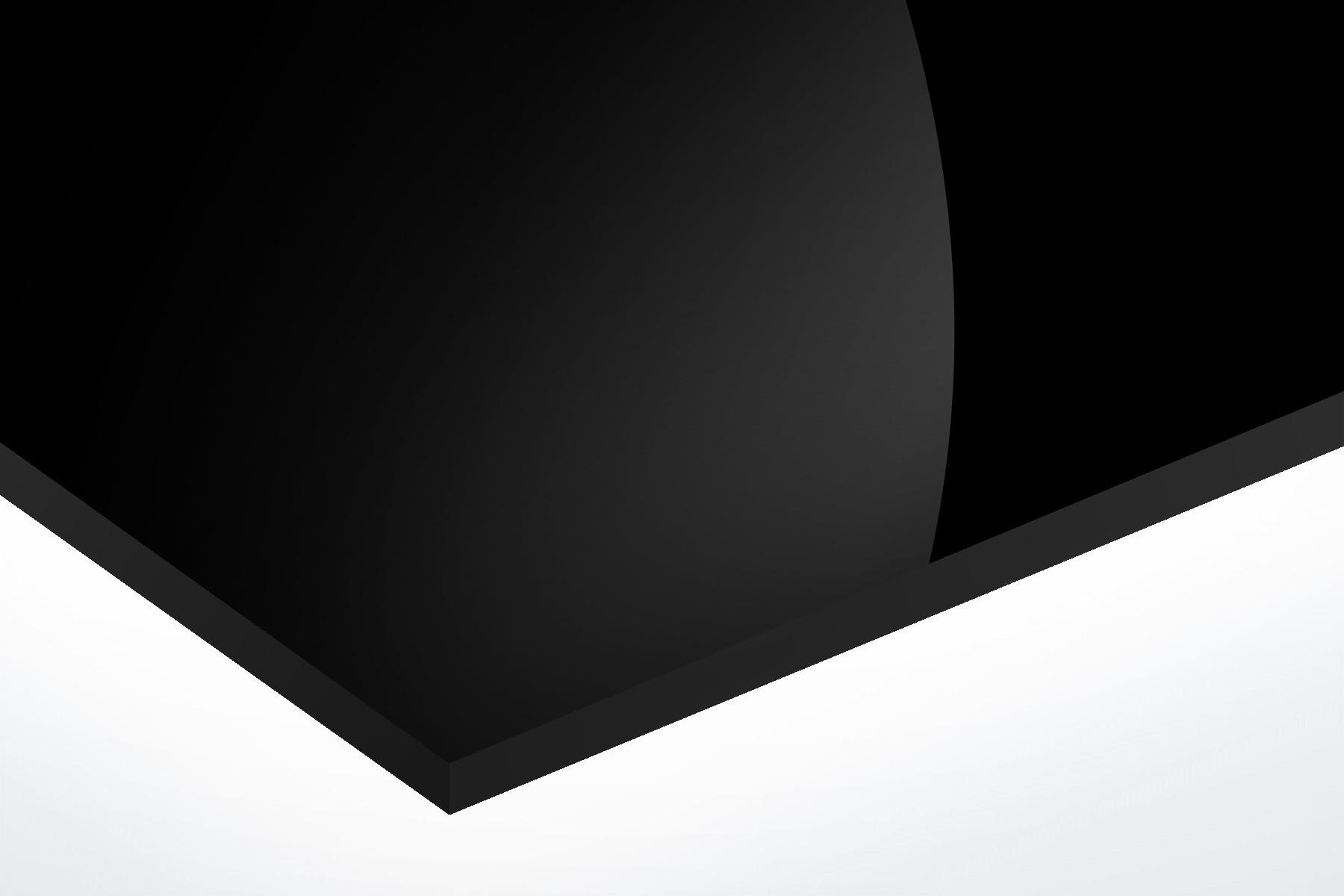Anodised Aluminium Black, Gloss 1mm x 1000mm x 500mm