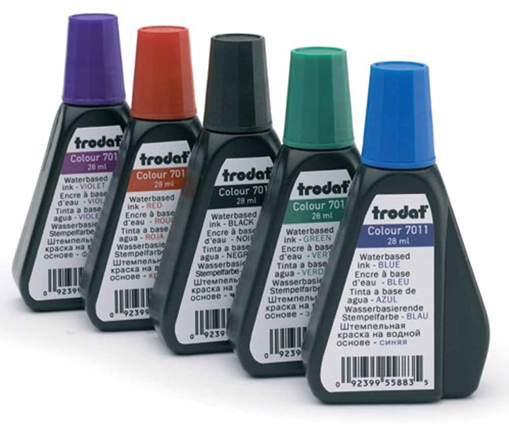 7011RED Trodat Ink 28ml - red