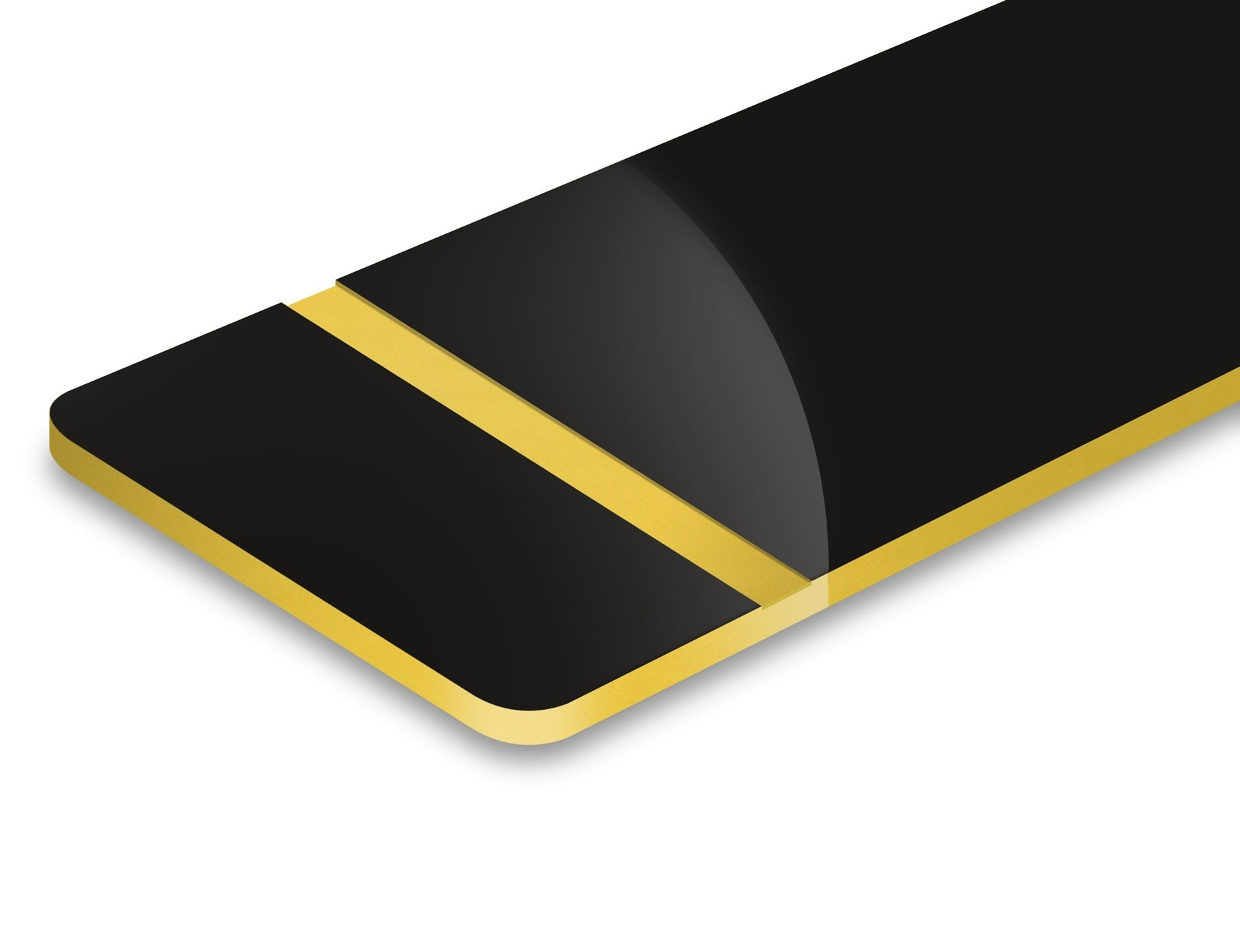 TroLase, Gloss Black/Gold, 2ply, 1.6 mm