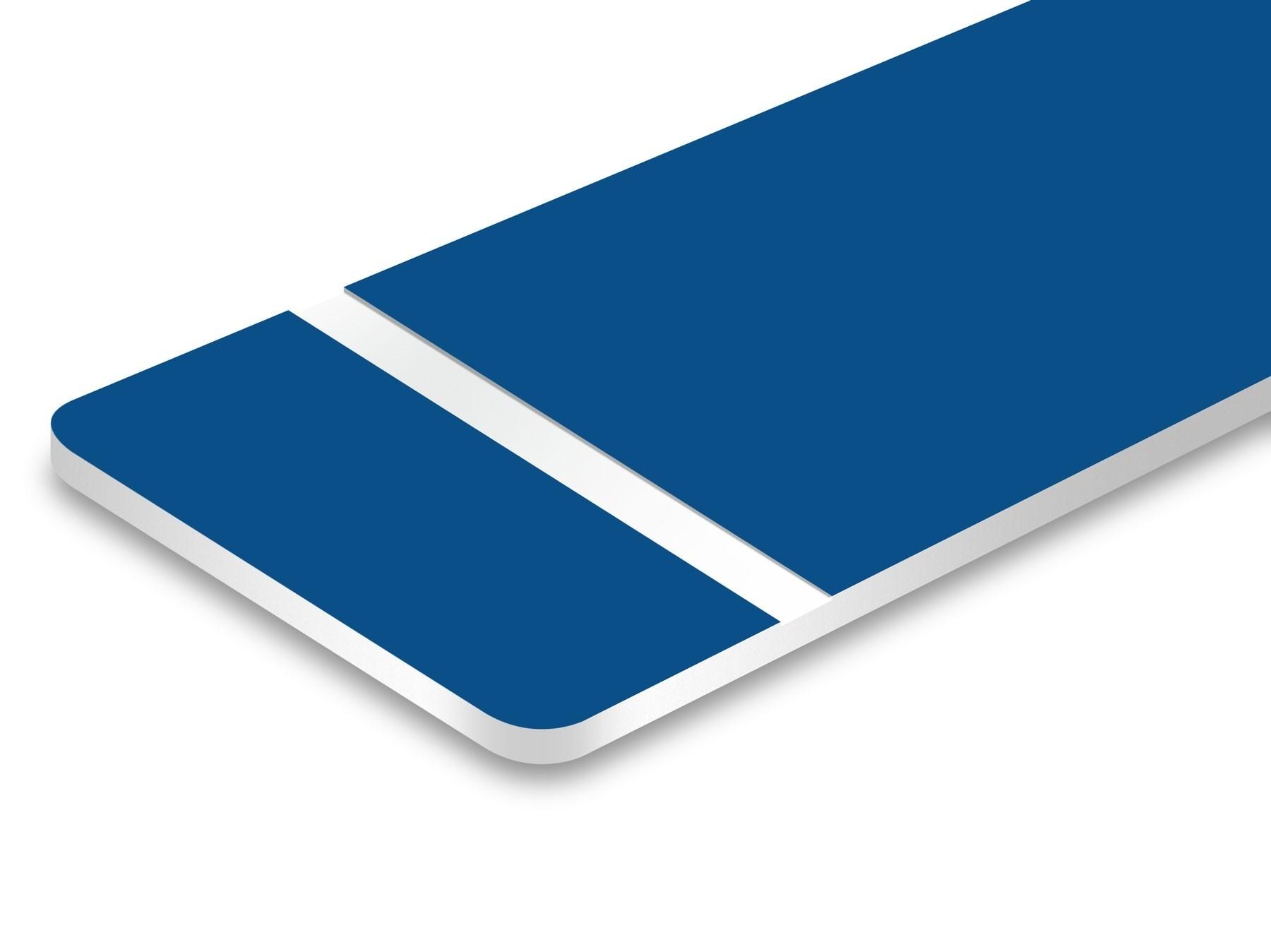 TroLase, Blue/white, 2ply, 0.8 mm