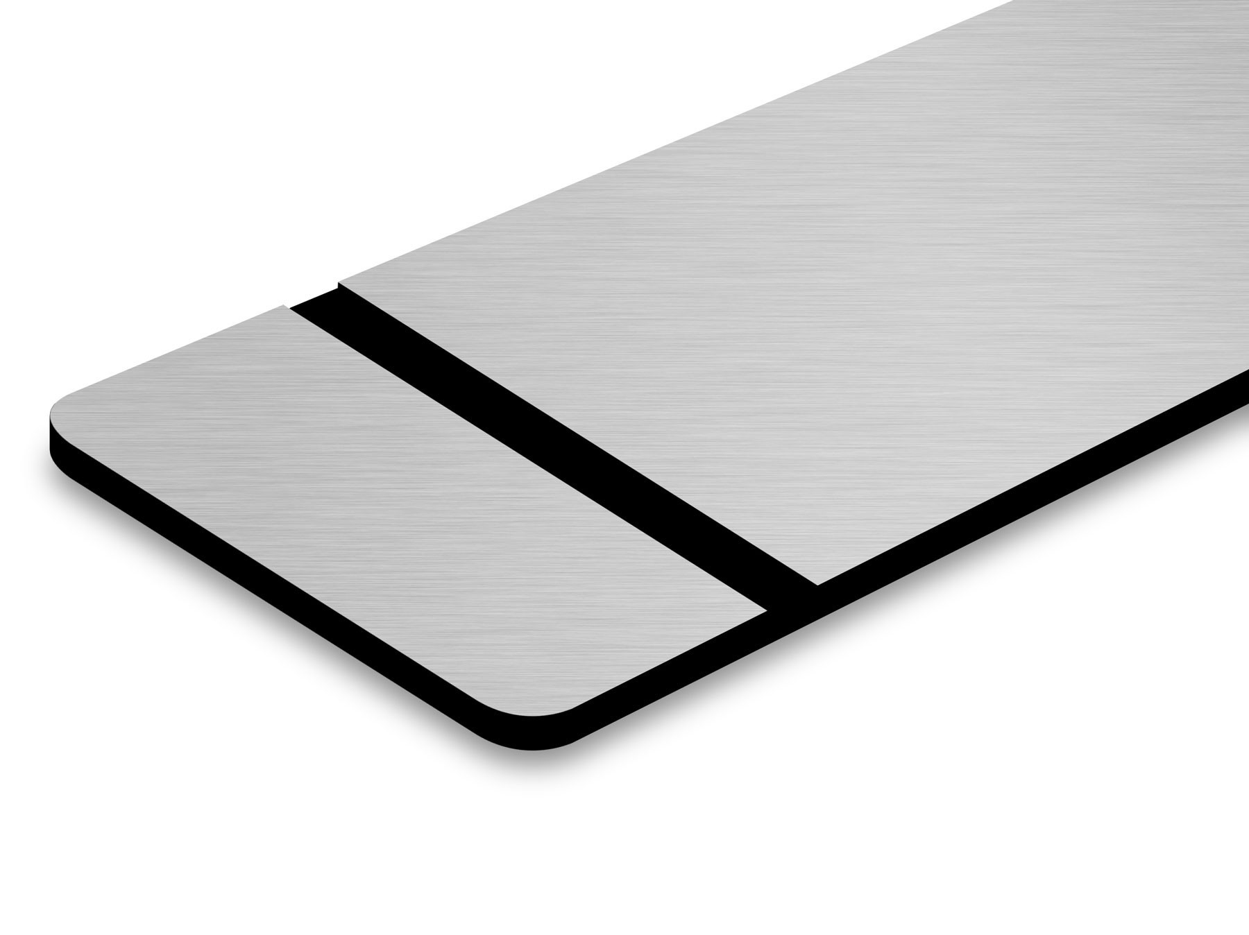 TroLase Metallic, Brushed Aluminium/Black, 2ply, 0.8 mm