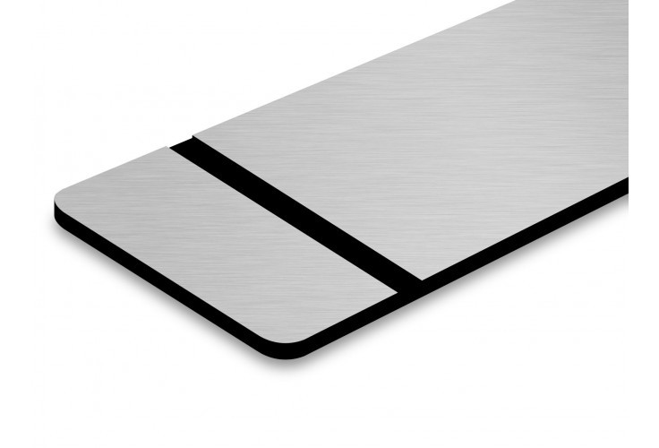 TroLase Metallic, Brushed Aluminium/Black, 2ply, 1.6 mm