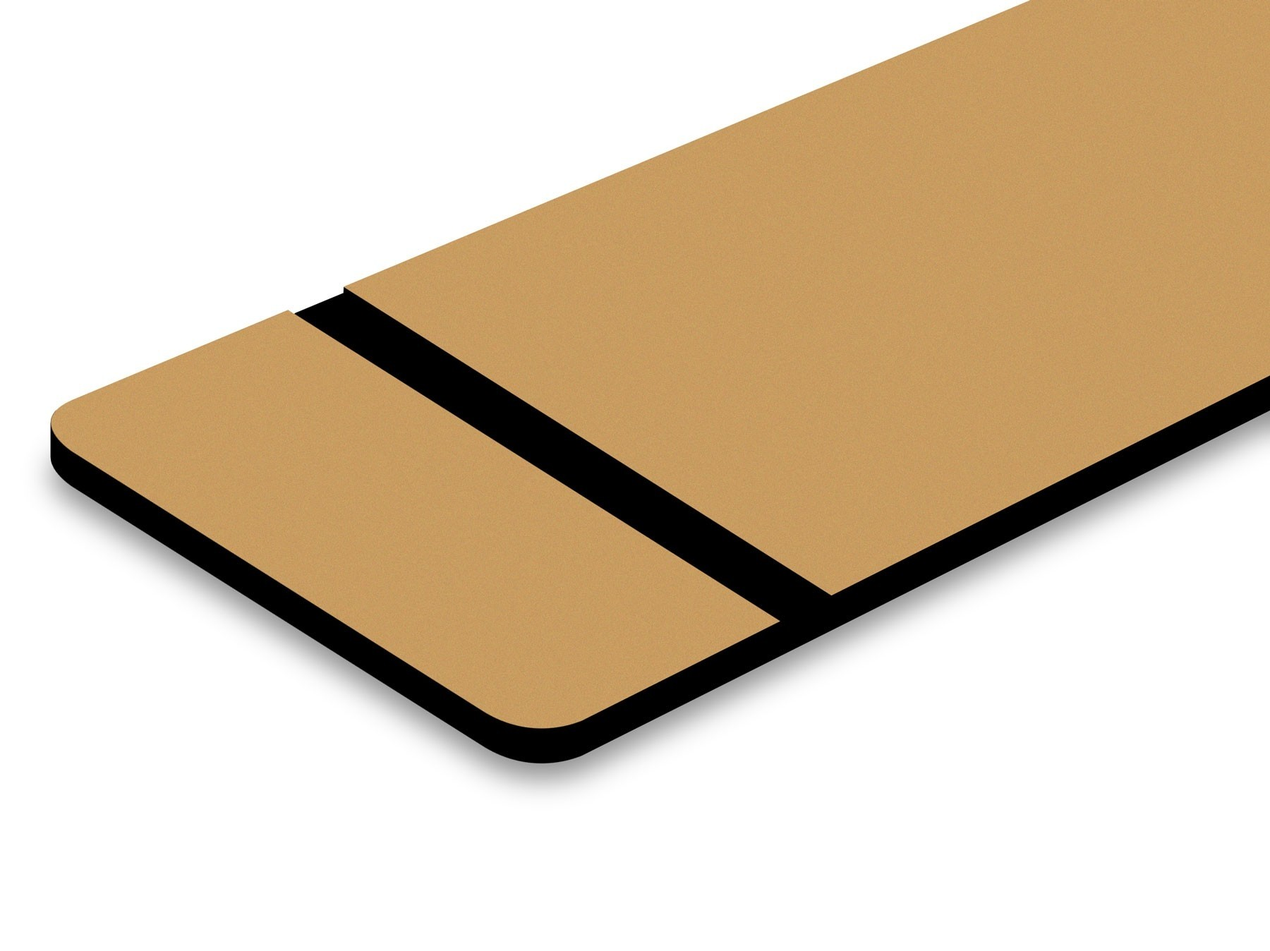 TroLase Metallic, Smooth Gold/Black, 2ply, 1.6 mm