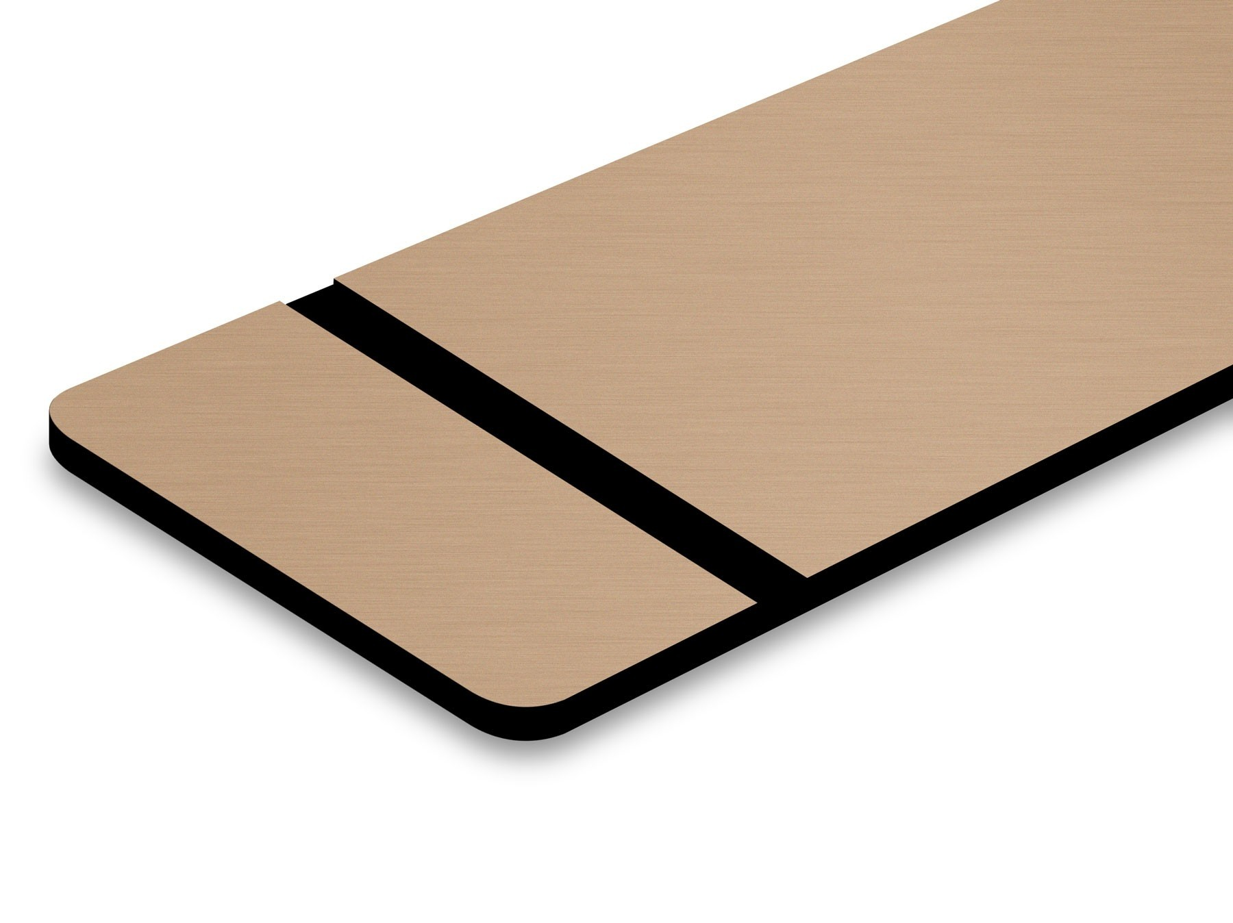 TroLase Metallic, Brushed Copper/Black, 2ply, 0.8 mm