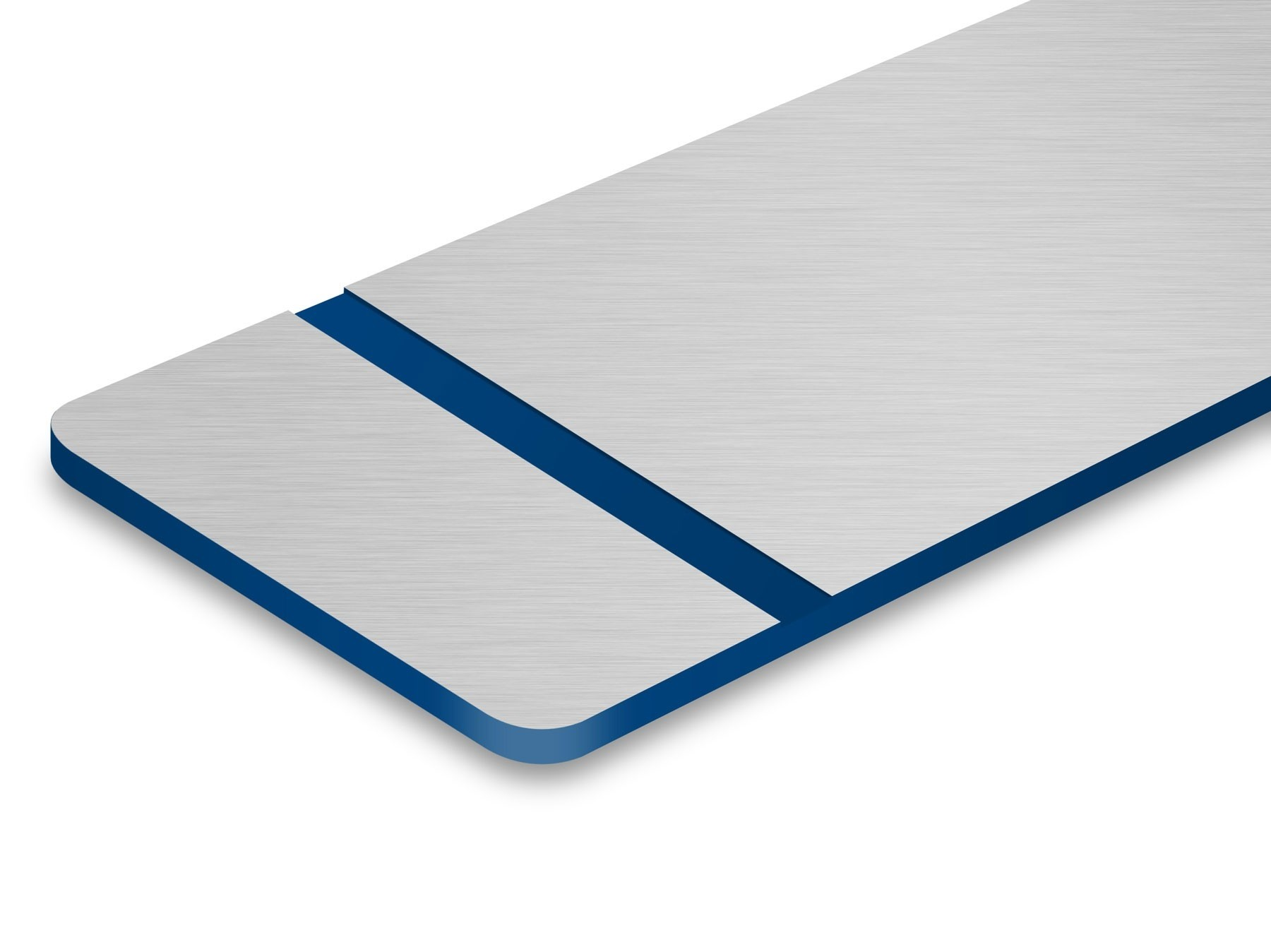TroLase Metallic Plus, Stainless Steel Brushed/Blue, 2ply, 1.6 mm