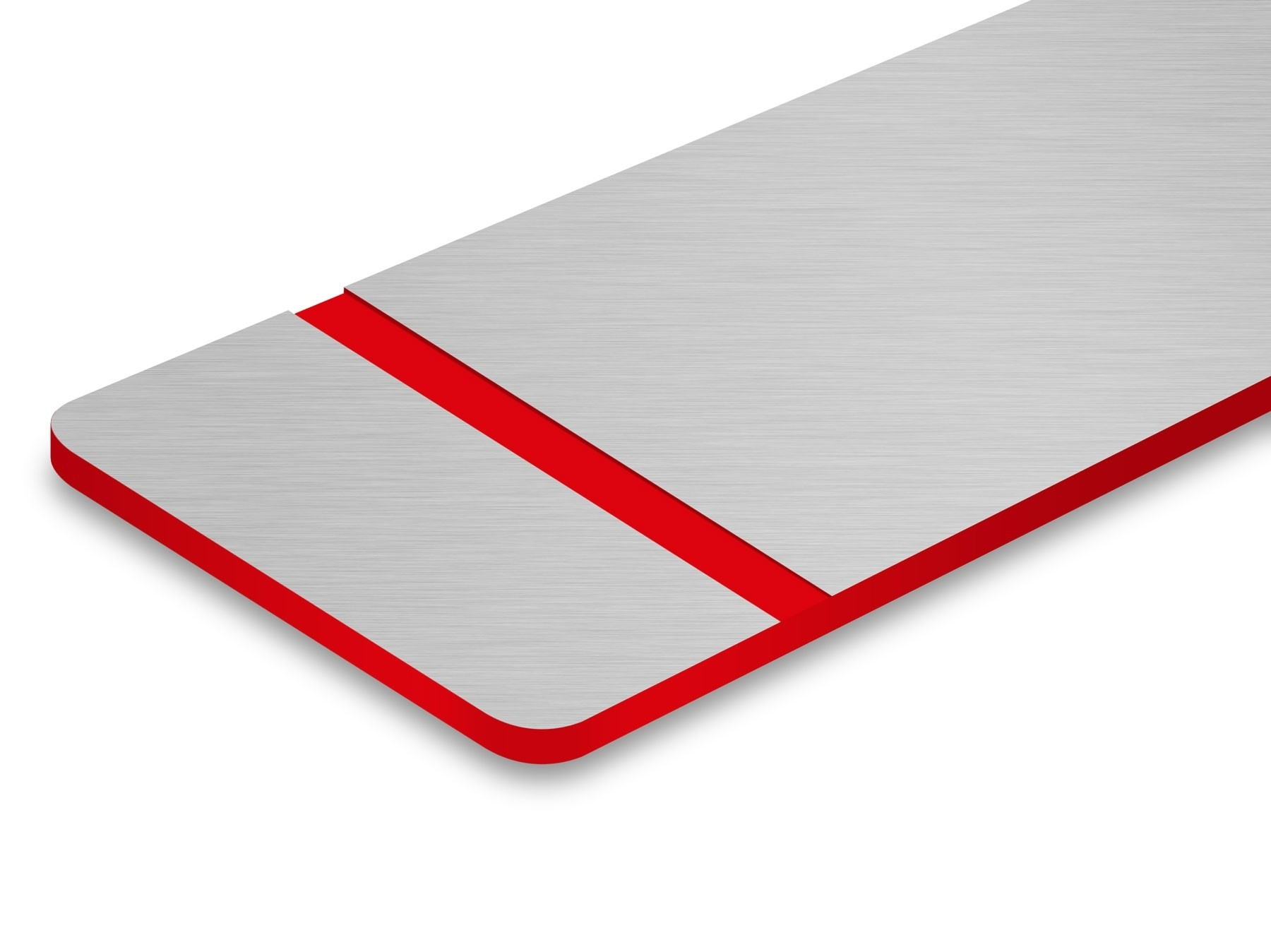 TroLase Metallic Plus, Stainless Steel Brushed/Red, 2ply, 1.6 mm