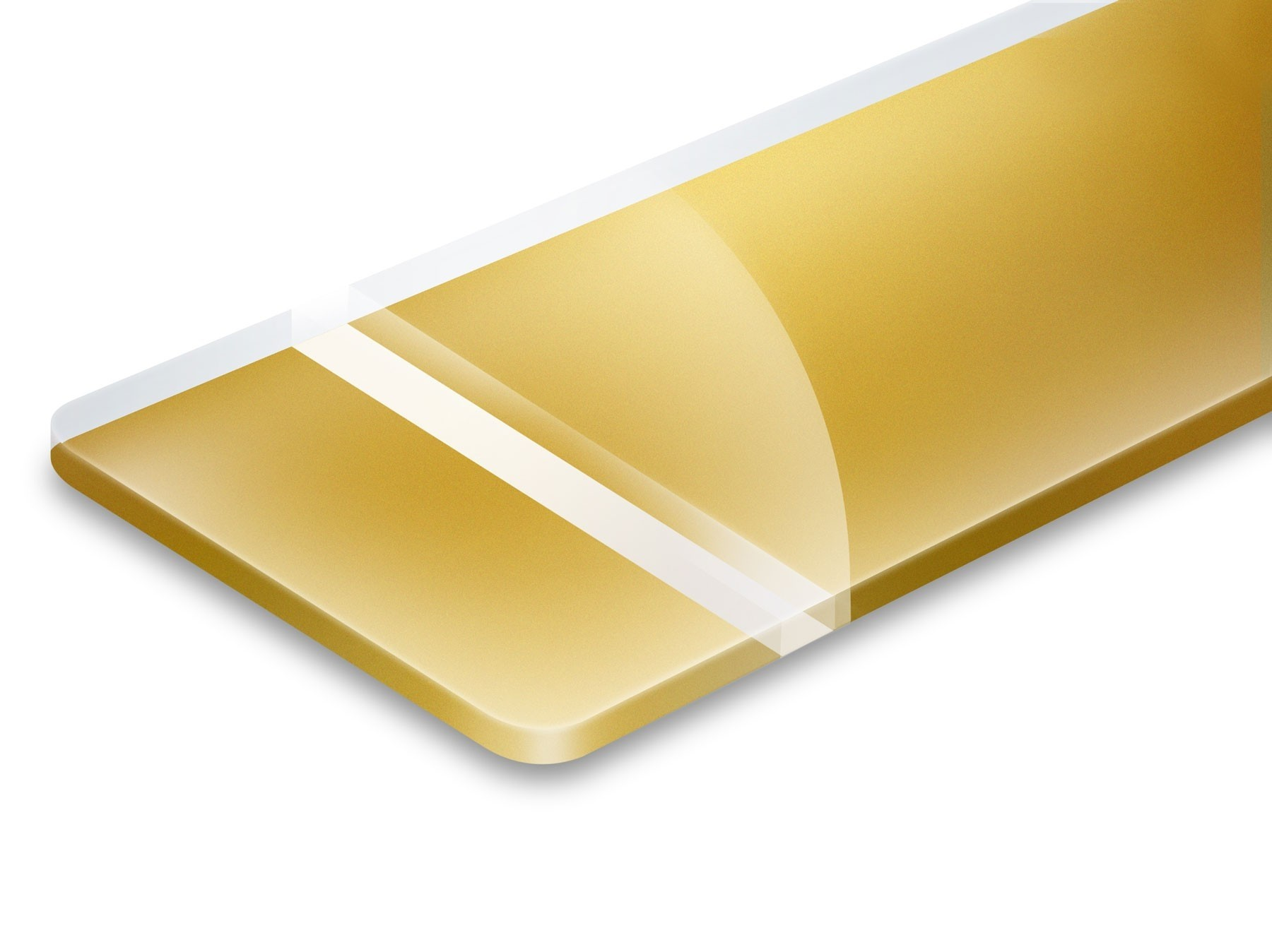 TroLase Reverse, Gloss/Gold, 2ply, 1.6 mm
