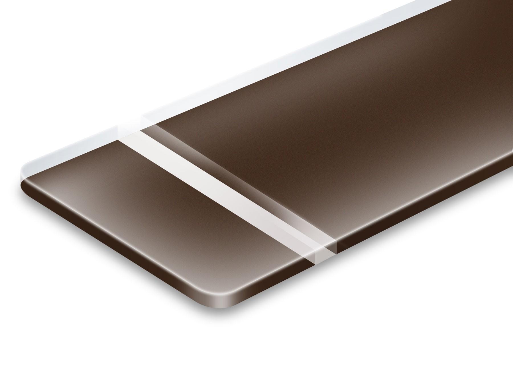 TroLase Reverse, Matte/Dark Brown, 2ply, 1.6 mm