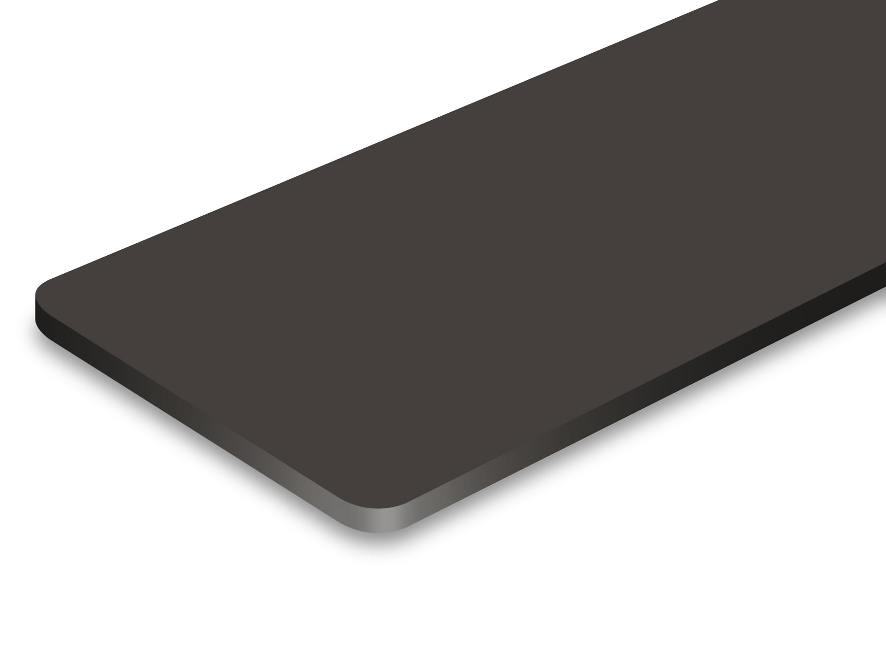 TroLase ADA Signage, Charcoal Gray, 1ply, 0.8 mm