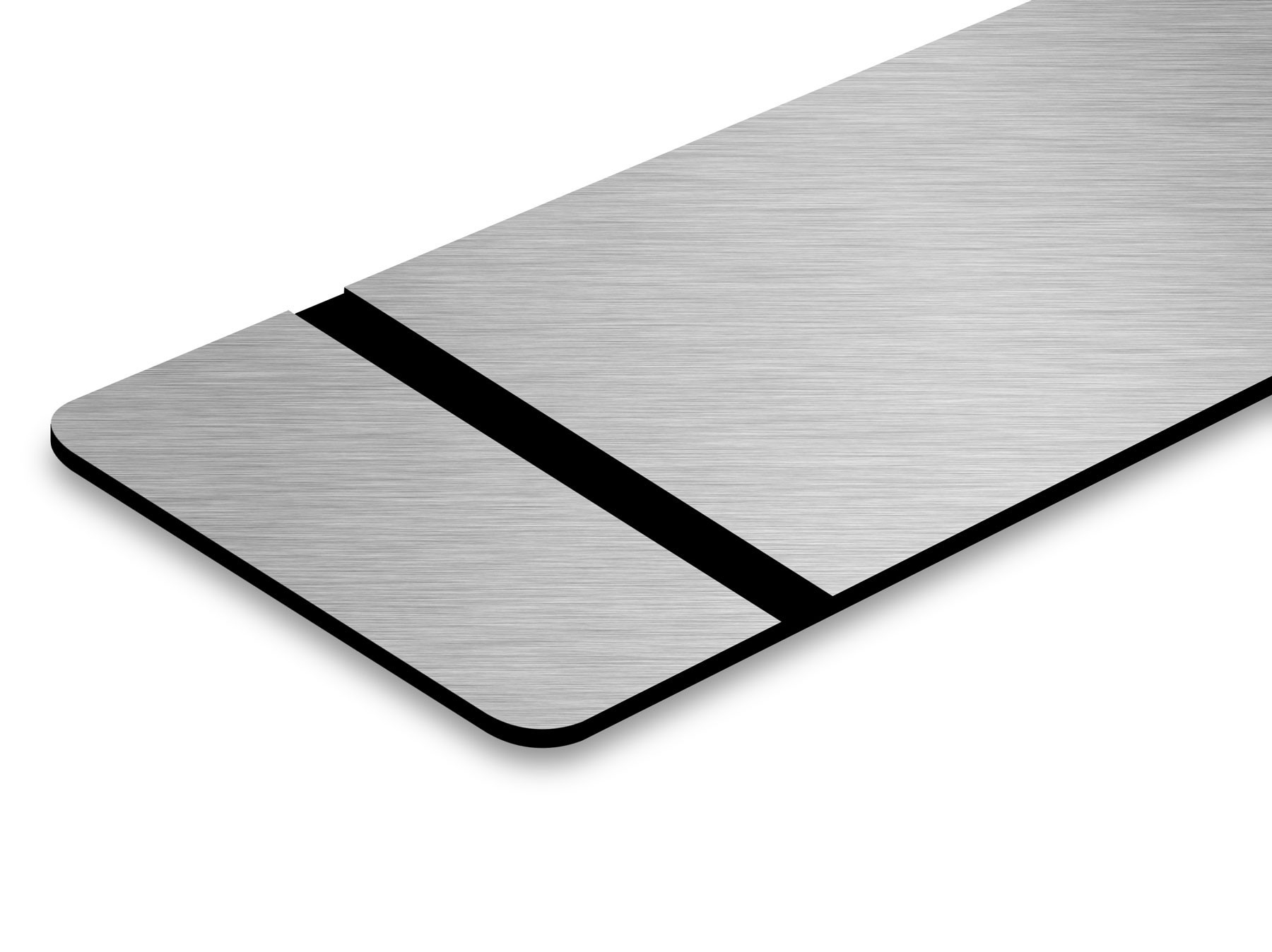 TroLase Thins, Brushed Silver/Black, 2ply, 0.5 mm