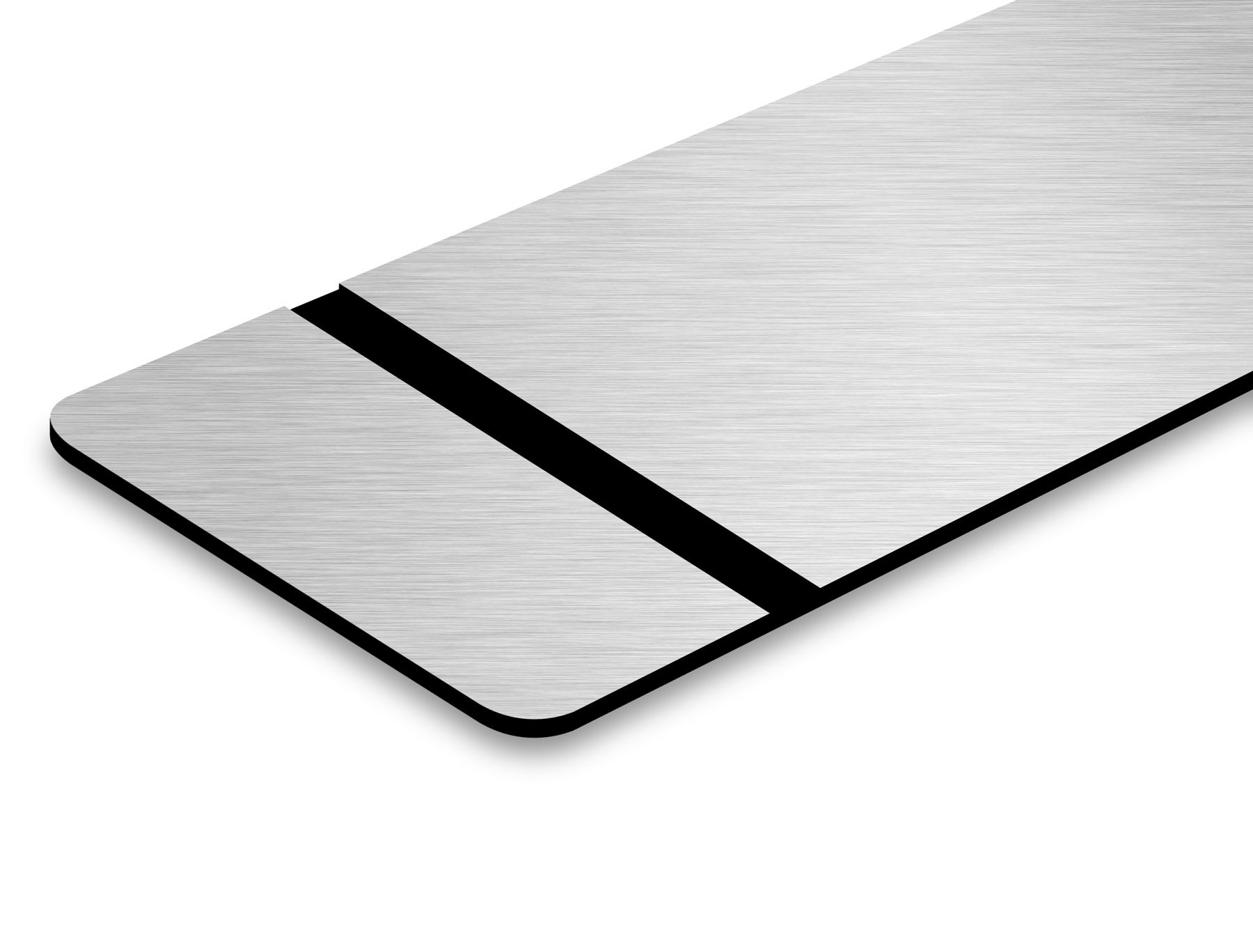 TroLase Thins, Brushed Aluminium/Black, 2ply, 0.5 mm
