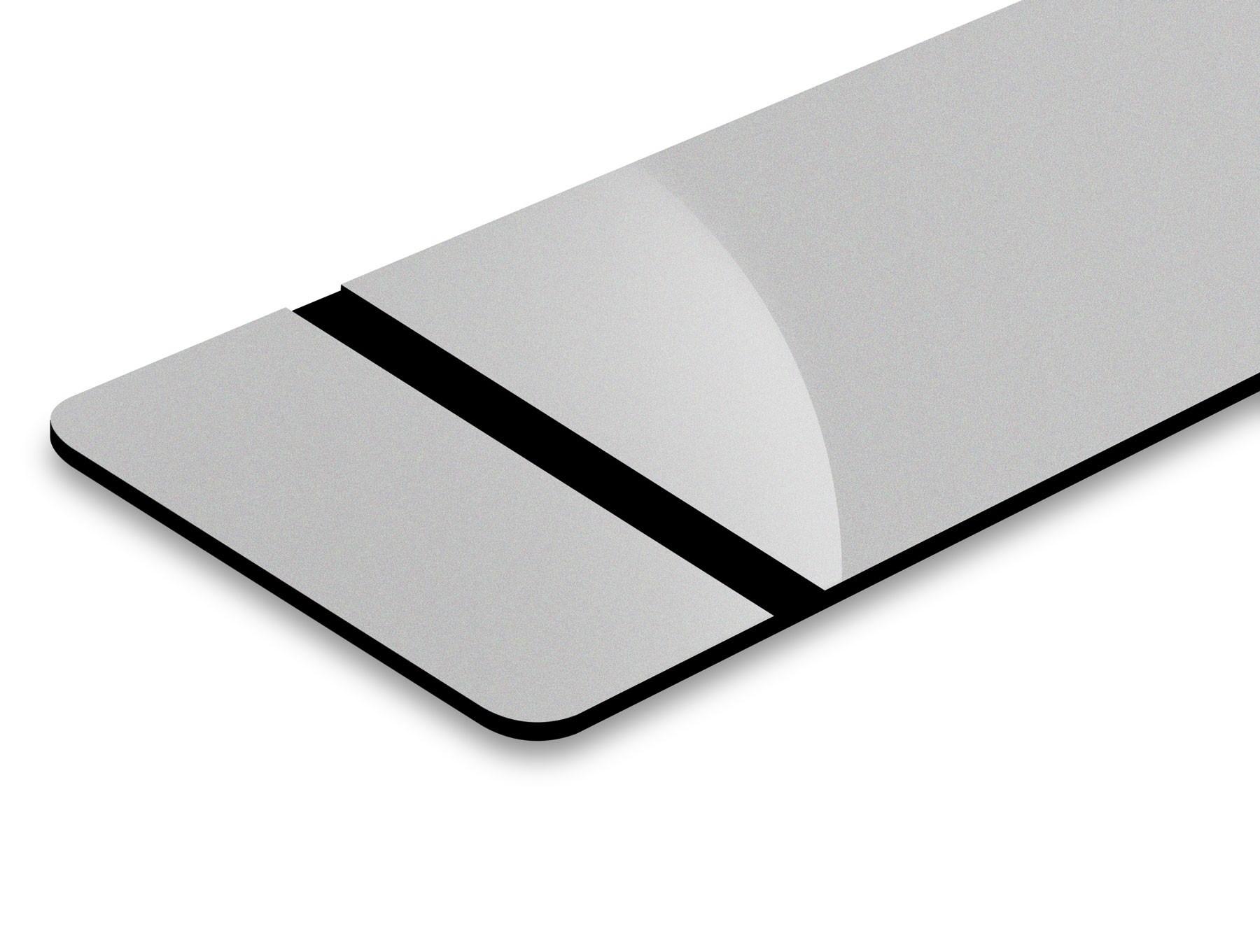 TroLase Thins, Trophy Silver/Black, 2ply, 0.5 mm