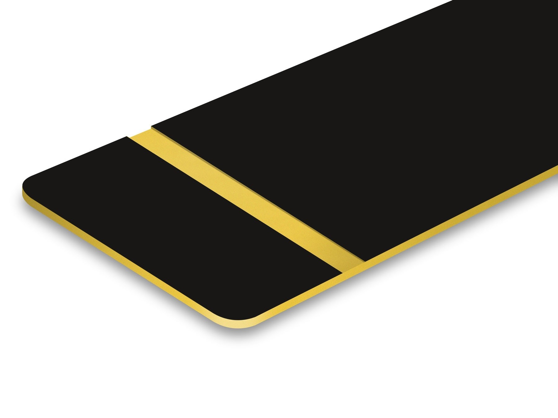TroLase Thins, Matte Black/Gold, 2ply, 0.5 mm